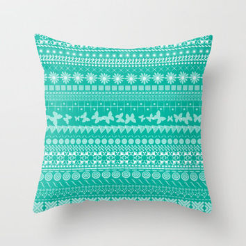 Teal-Licious Throw Pillow by Shawn Terry King | Society6