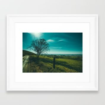 The Walk Home Framed Art Print by Mixed Imagery