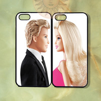 Barbie and Ken Couple Case UP-iPhone 5, iphone 4s, iphone 4, ipod 5, Samsung GS3-Silicone Rubber or Hard Plastic Case, Phone cover