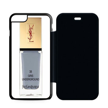 Yves Saint Laurent Gris Underground Flip Case iPhone 6 | iPhone 6S | iPhone 6S Plus  Case