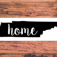 Tennessee Home Decal | Tennessee Decal | Homestate Decals | Love Sticker | Love Decal  | Car Decal | Car Stickers | 134