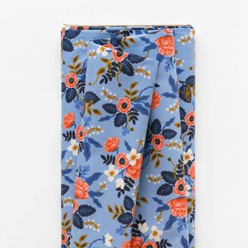 Birch Floral (Periwinkle) Cotton Fabric by Cotton + Steel | Made in Japan