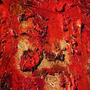 Original Red Textured Abstract Painting, Huge Contemporary Art, Modern Abstract fine art, by Henry Parsinia Large 48x36