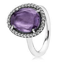 Pandora Glamorous Legacy with Amethyst and CZ Ring