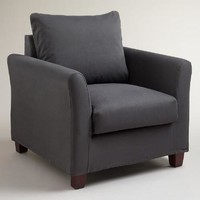 Charcoal Luxe Chair Slipcover - World Market
