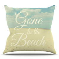 KESS InHouse Gone To The Beach by Alison Coxon Cotton Throw Pillow