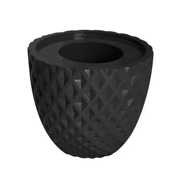 "13.6"" Black Decorative Honeycomb Planter"
