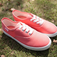 Pink Sweet Canvas Shoes For Her