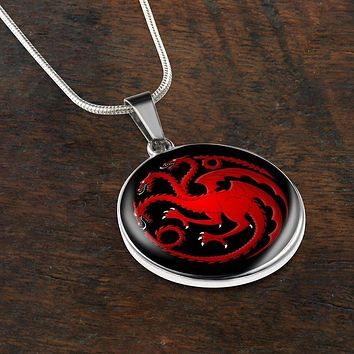 Targaryen Pendant Game of Thrones Jewelry House Targaryen Necklace Daenerys Amulet
