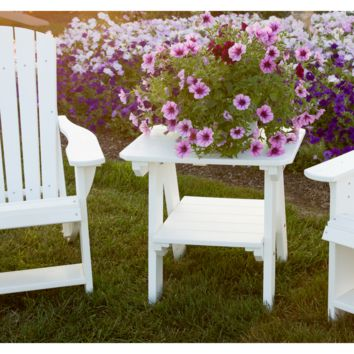 Wildridge Outdoor Recycled Plastic Heritage 2 Tier End Table   - Ships in 10-14 Business Days