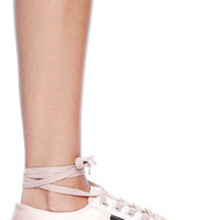 Superga x Man Repeller Classic Satin Sneaker in Pink