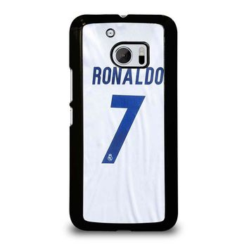 RONALDO CR7 JERSEY REAL MADRID  HTC One M10 Case Cover