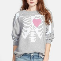 Women's Wildfox 'My Beating Heart' Sweatshirt,