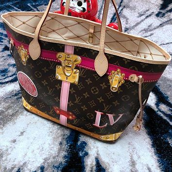 Louis Vuitton LV Fashion Women Shopping Bag Leather Handbag Tote Shoulder Bag I/A