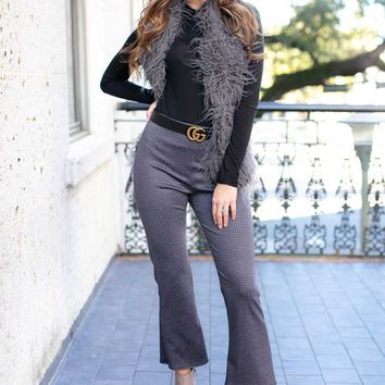 Fearless Plaid Cropped Flare Pants