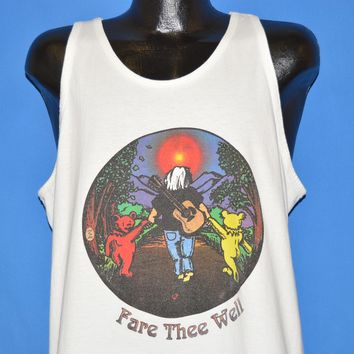 90s Fare Thee Well Jerry Garcia Tank Top t-shirt Extra Large
