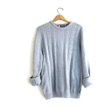 vintage heather gray sweater. slouchy sweater. cotton pullover. boyfriend sweater