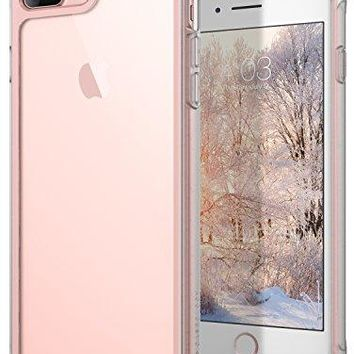 iPhone 8 Plus Case / iPhone 7 Plus Case Caseology [Coastline Series] Transparent Clear Slim Protective Scratch Resistant Frosted Frame [Pink] for Apple iPhone 8 Plus (2017) / iPhone 7 Plus (2016)