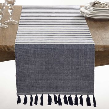 Reversible Stripe Table Runner | 72-Inch