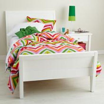 Kids' Beds: Kids White Modern Blake Bed in Blake Collection | The Land of Nod