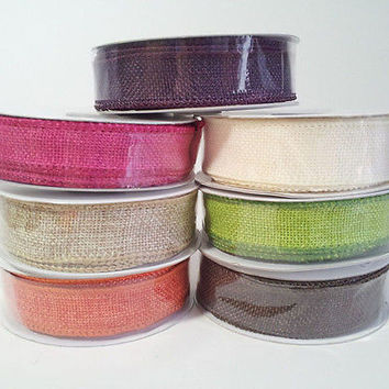 Faux Jute Ribbon Wired Edge Craft Gift Wrapping, 10-yard