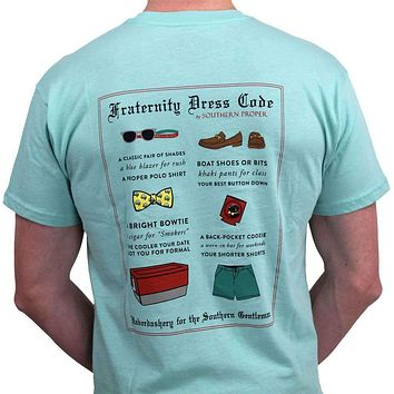 Fraternity Dress Code Tee in Aqua by Southern Proper