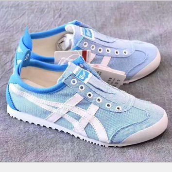 one nice asics gel lyte onitsuka tiger the lazy a pedal canvas shoes blue white h psxy  number 1