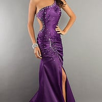 One Shoulder Backless Evening Gown