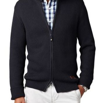 Dockers Casual Pull-Zip Mockneck - Navy - Men's