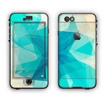The Vector Abstract Shaped Blue Overlay V2 Apple iPhone 6 Plus LifeProof Nuud Case Skin Set