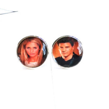 ON SALE - Made To Order - Buffy & Angel Earrings
