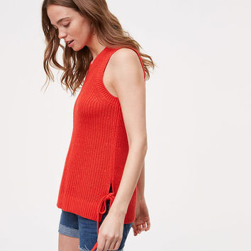 Petite Side Tie Sweater Tank | LOFT