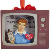 I Love Lucy Vitameatavegamin TV Ornament
