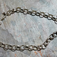 6.75 Inch Chain Bracelet Rolo Chain Charm Bracelet Starter Chain 925 Italy Italian Silver 5 mm Wide Shiny Silver Spring Ring Clasp