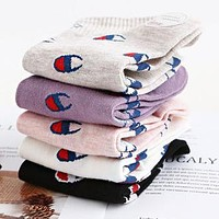 Champion Fashionable Women Comfortable Breathable Sport Cotton Socks