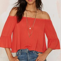 Glamorous Out of Range Off the Shoulder Top