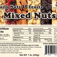Daily Nuts & Fruits Mixed Nuts 1 LB (Roasted Almonds, Roasted Cashews, Macadamias, Walnuts,...
