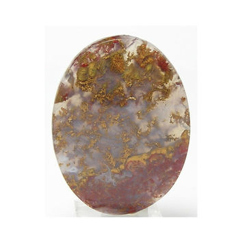 Golden and Red Moss Agate Oval Stone Calibrated Cabochon 30x40 mm