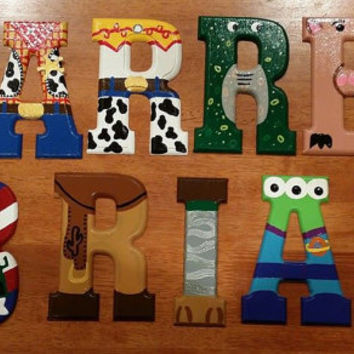 custom hand painted to order wooden letters