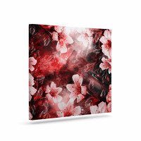 "Shirlei Patricia Muniz ""Garden Secret"" Red Black Canvas Art"