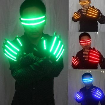 LED Flashing Light Glasses and Gloves