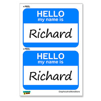 Richard Hello My Name Is - Sheet of 2 Stickers