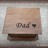 Christmas gift, music box, wooden music box, custom music box, dad music box, personalized music box, for dad, fathers day, dad gift,