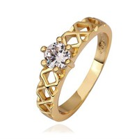 MLOVES Women's Delicate the Diamond Ring