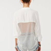 Mesh Around Blouse - Ivory