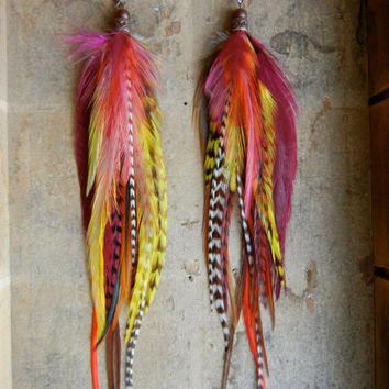 SALE: 20 Percent OFF the ENTIRE shop - Rollin' With The Homies Extra Long Feather Earrings