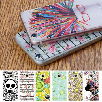 Rose Pattern Case For Samsung Galaxy J5 2016 J3 J7 J1 Mini A7 A5 A3 Grand Prime S7 Phone Cover For iPhone 5S 5 5C 7 6 6S Plus