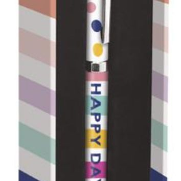 Happy Day Pen in Colorful Polka Dots and Stripes
