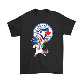 AUGUAU Hip Hop Dabbing Unicorn Flippin' Love Toronto Blue Jays Shirts