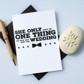 Funny Groomsman Card, Funny Best Man Card, Best Man Card, Groomsman Card, Wedding Card, Will You Be My, Groomsman, Best Man, One Thing